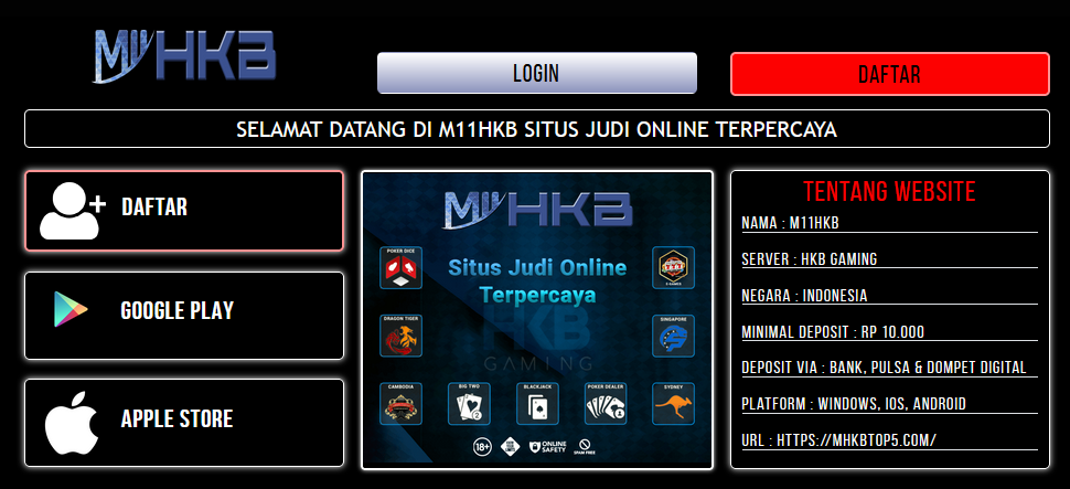 M11HKB | Daftar M11HKB | Login M11HKB | Link Alternatif M11HKB