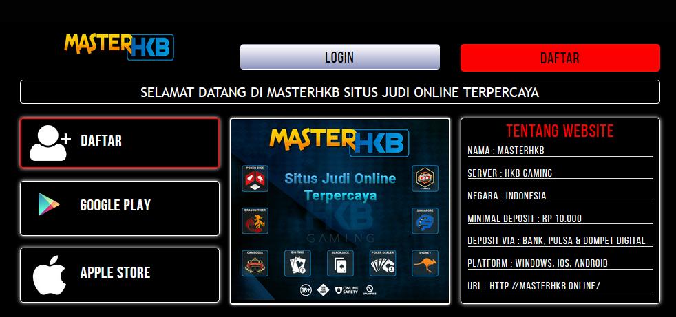 MasterHKB | Daftar MasterHKB | Login MasterHKB | Link Alternatif MasterHKB